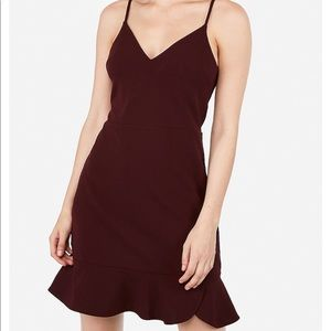 Express Ruffle Cami Fit And Flare Dress - XL